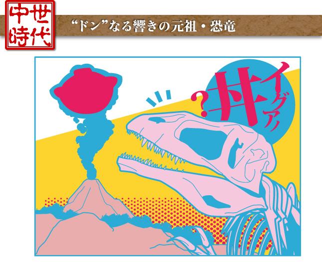 """中世時代―""""ドン""""なる響きの元祖・恐竜"""